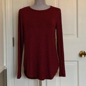 Old Navy Berry and Black striped tunic